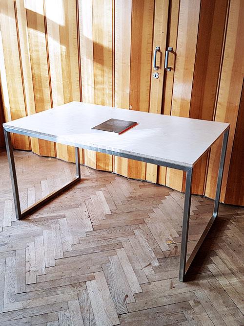 Design Edelstahl Tsch Schreibtisch