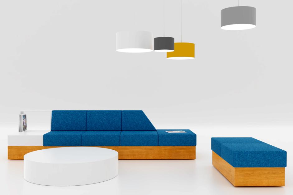 Modulare Couch/Sofa für Bürolandschaften